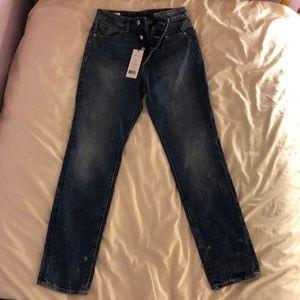 Helmut Lang High Rise Crop Slim Jeans, Size 24